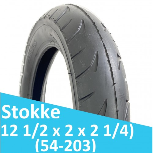 Покрышка заднего колеса Stokke Terrain Trailz / Crusi (54-203)