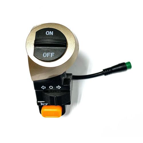 Блок управления для электросамоката тип 2 (вкл/выкл, поворотники, гудок)